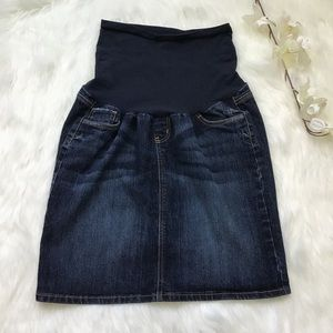 OH BABY By Motherhood jean mini skirt large